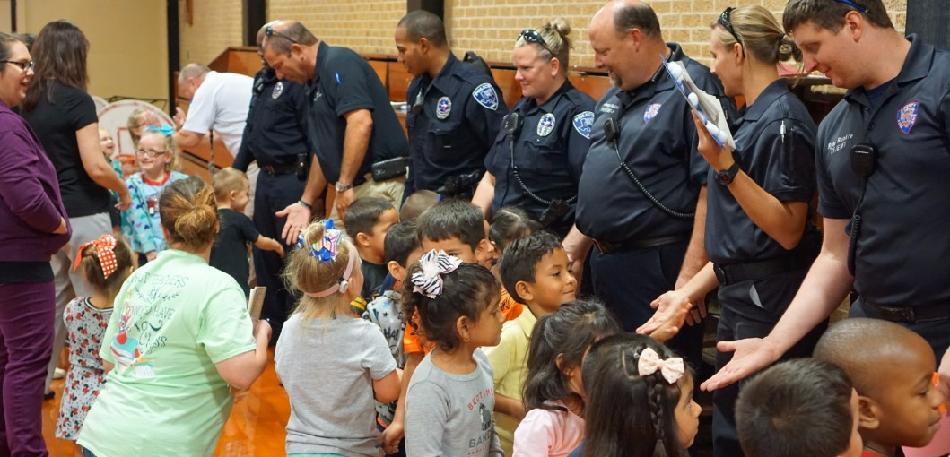 SJE Students Thank Liberty First Responders