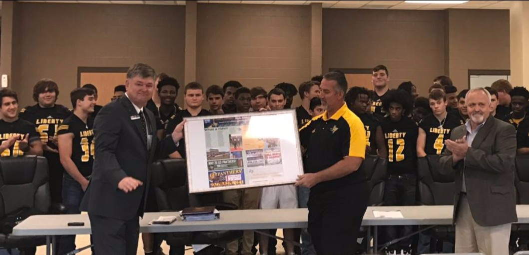 HONORING 2016 LIBERTY PANTHERS FOOTBALL TEAM