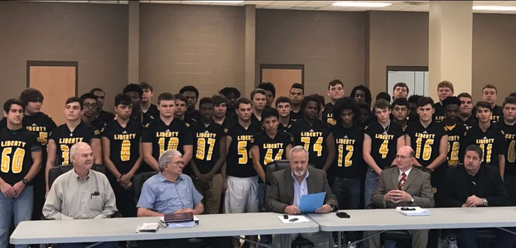 Proclamation Honors Liberty Panthers Football Team.