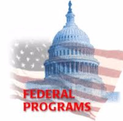 Capitol building logo for federal programs