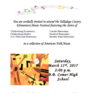 Talladega County  Dorothy A Wright Elementary Choral Music Festival