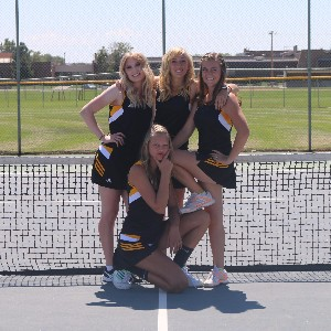 The Girls Tennis Team is Playing Hard