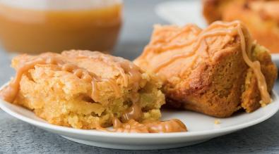 Caramel Apple Cake Bars