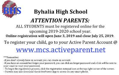News and Announcements - Byhalia High School