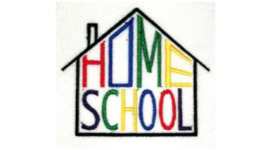 Home School letters in a house shape