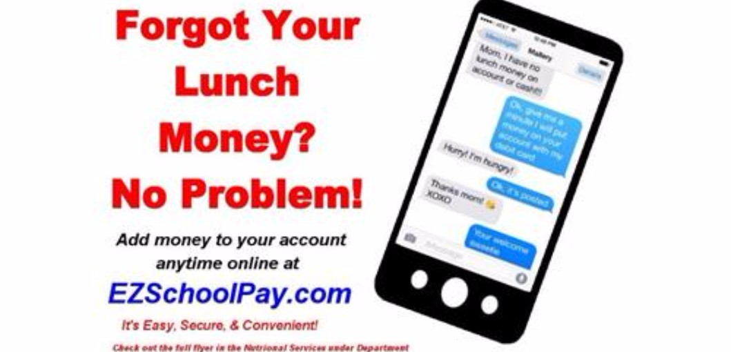 Forget your lunch money? No problem Click here