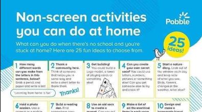 Non-screen Activities to do at home