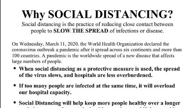 Why Social Distancing?