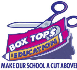 Picture advertising box top collection to support the school.