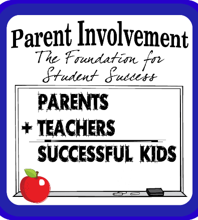 Graphic element encouraging parent involvement