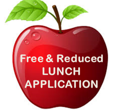 picture of apple with free and reduced lunch text