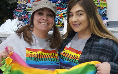Gay Straight Alliance members make and donate blankets