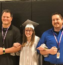 Students at Triumph graduation