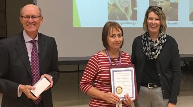 Dori Klopfer wins Outstanding Educator Award from Rotary