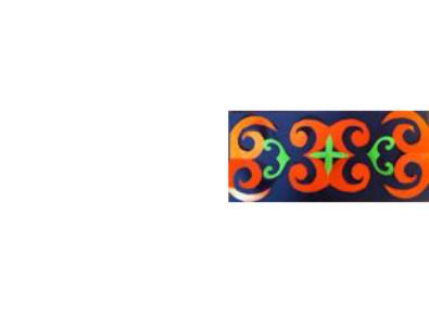 symmetrical artwork of Ainu design