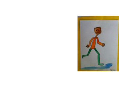 painting of a person running