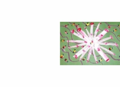 photo of child's painting of anemone