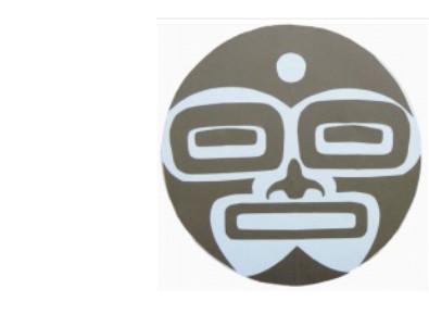 Tlingit moon paper face