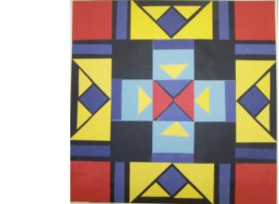 symmetrical paper quilt square