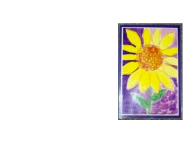 photo of a student's painting of a sunflower