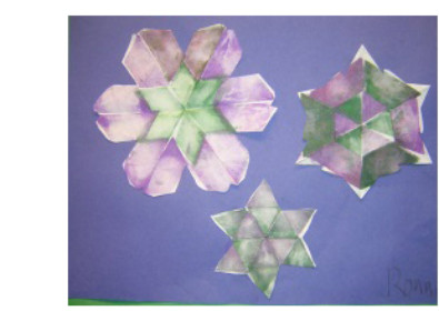 geometric snowflakes art