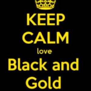 keep calm love black and gold