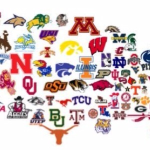many different college logos