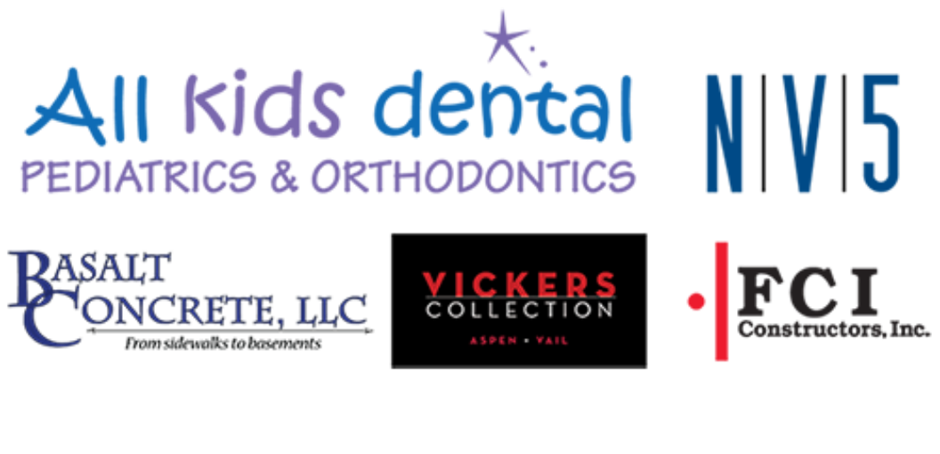 Sponsors include All Kids Dental, Vickers Collection, Basalt Concrete, NV5 and FCI Constructors