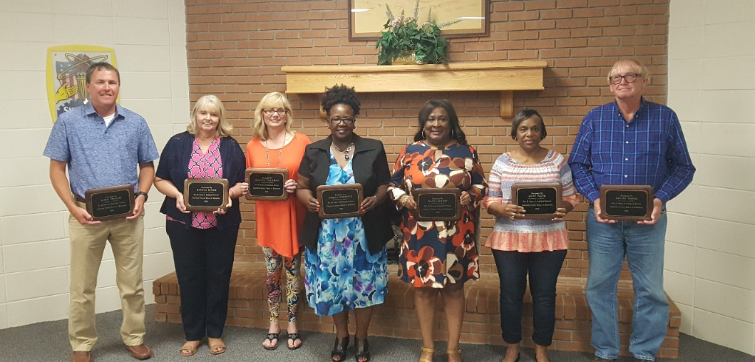 RETIREES HONORED BY CHAMBERS COUNTY SCHOOL BOARD