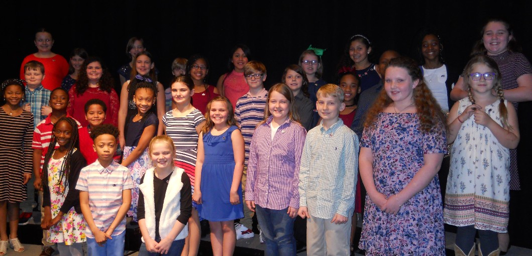 LAFAYETTE LANIER ELEMENTARY STUDENTS INDUCTED TO NATIONAL HONOR SOCIETY
