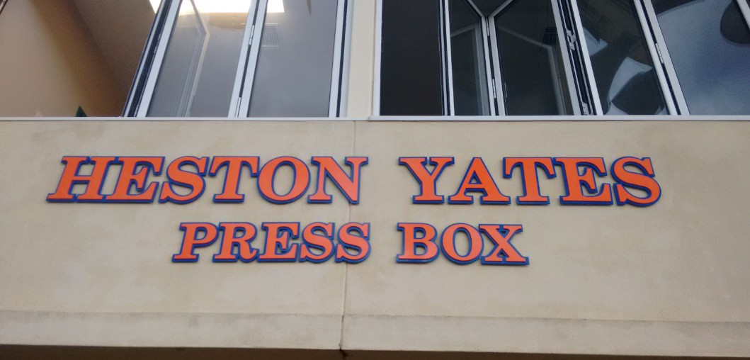 PRESS BOX AT RAM STADIUM NAMED FOR HESTON YATES