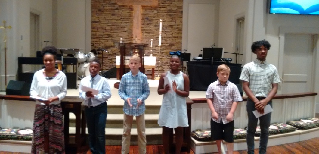 "LOCAL CHURCH PRESENTS ""PEACEKEEPER AWARDS"" TO STUDENTS"
