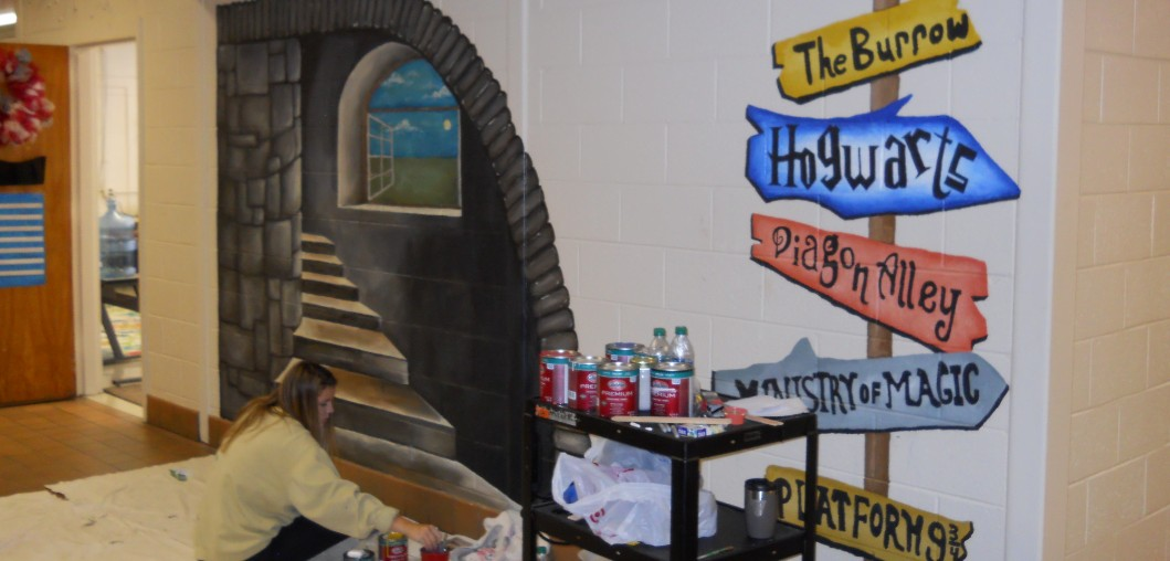 WALLS COME TO LIFE AT FIVE POINTS SCHOOL