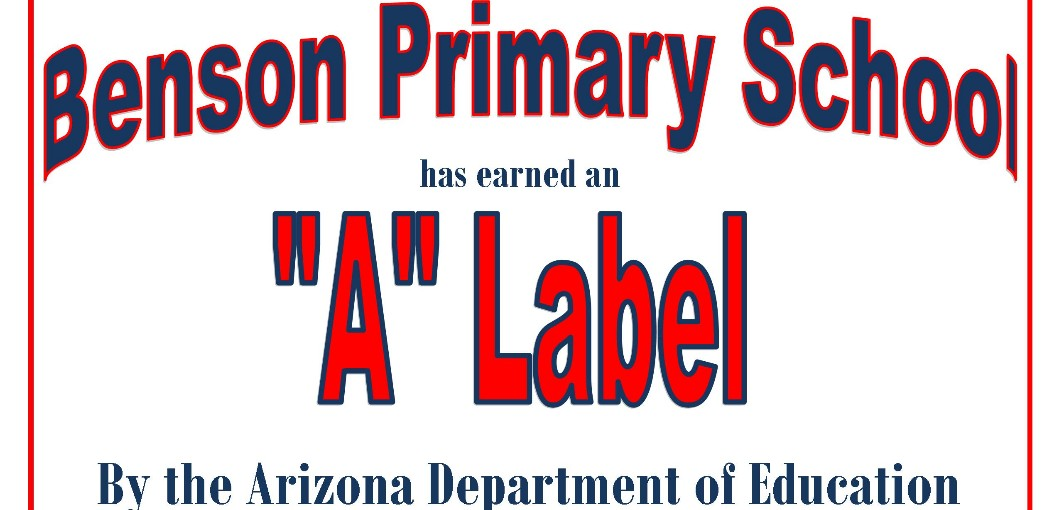 "Benson Primary School ""A"" Label award"