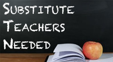 Clip Art Substitute Teachers Needed on Chalkboard
