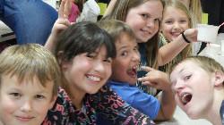 Students having fun.
