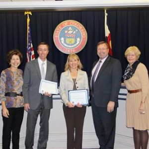 Staff presents Governors Achievement award.