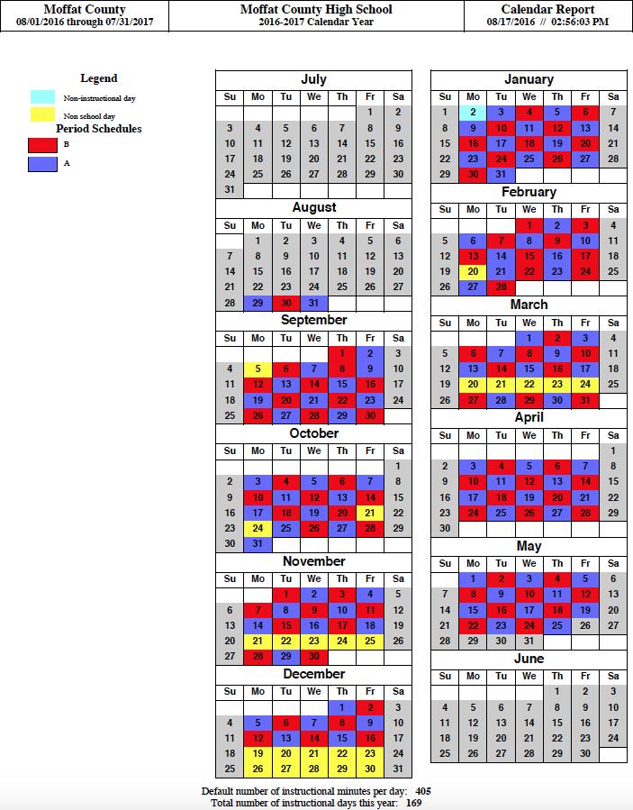 A-B Day Schedule
