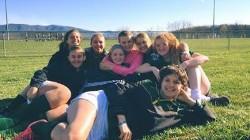 girls soccer teammates