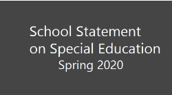 statement on Special Ed Spring 2020