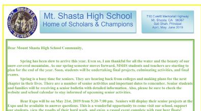 Home - Mt  Shasta High School