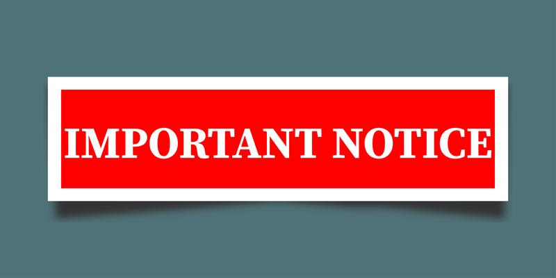Rescheduled 2nd Day of 1st Semester Finals Schedule