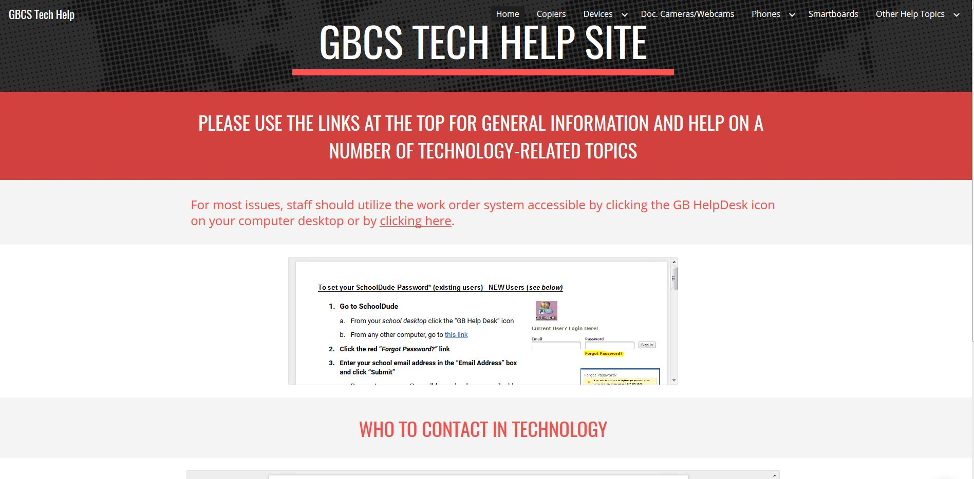 The New GBCS Tech Help Site is Here