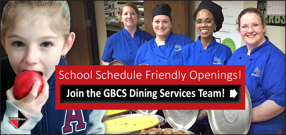 Join the Dining Services team at GBCS!