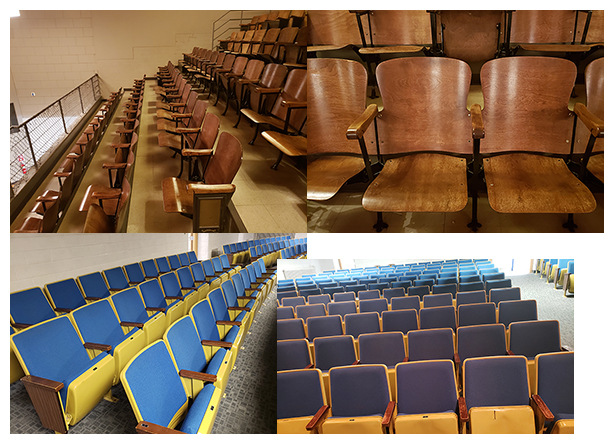 May 28 - Auditorium seating for sale