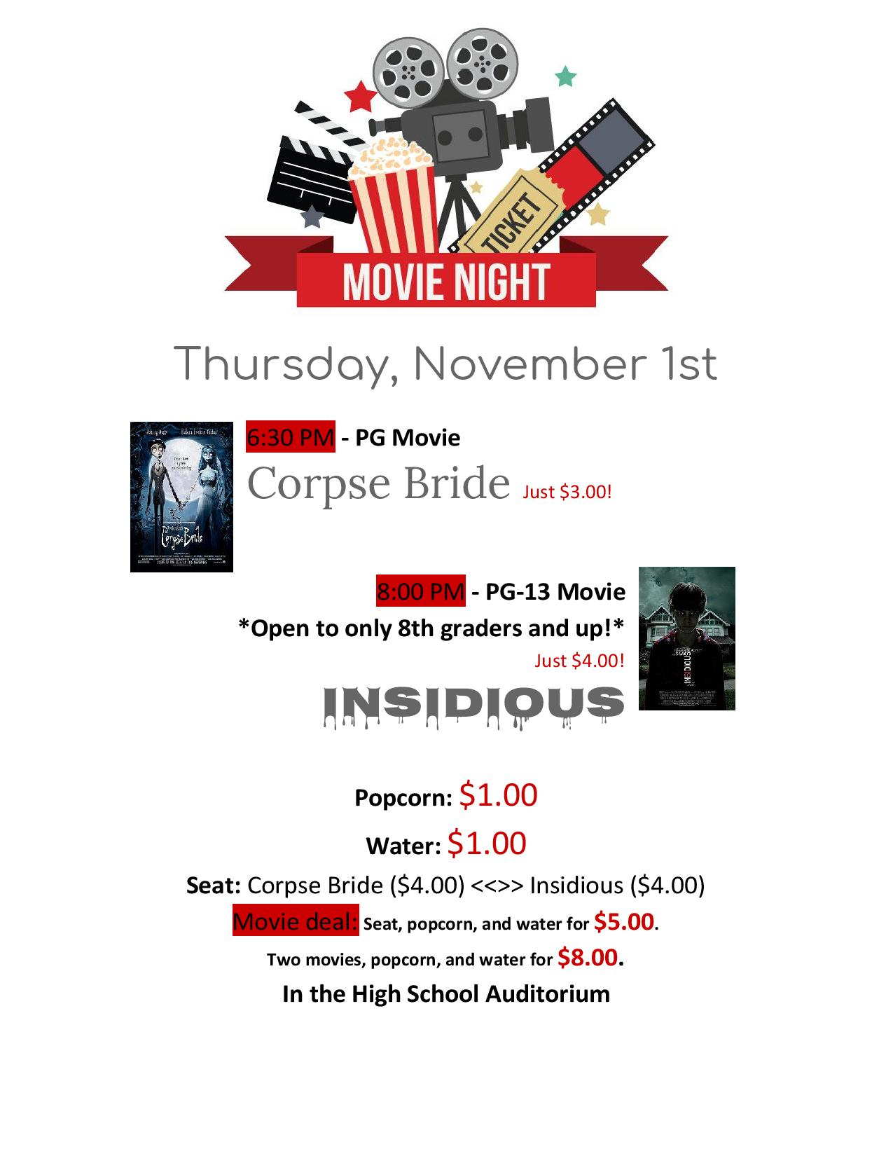 Movie Night - November 1st