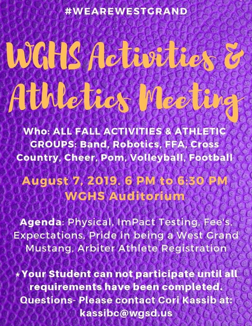 Activities and Athletics Meeting