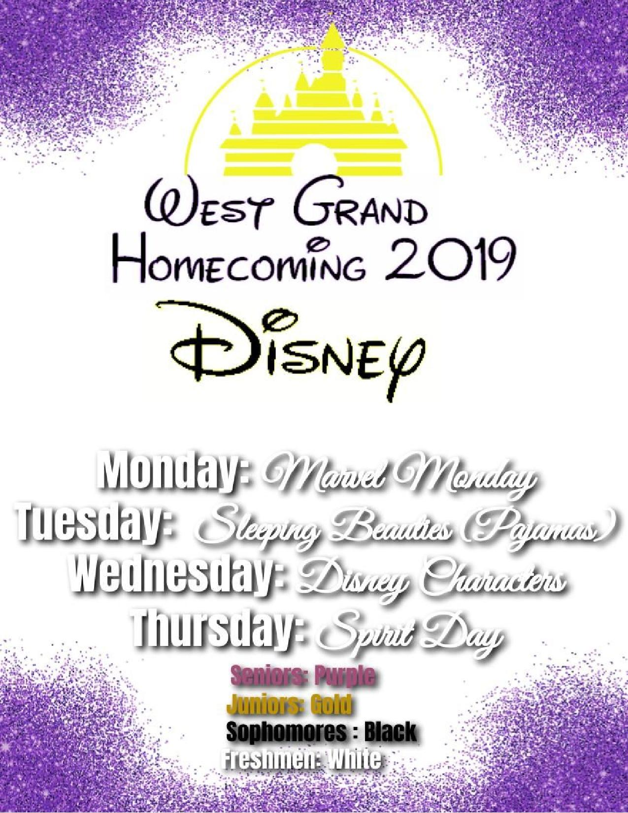 Homecoming Week Dress Up Day Themes