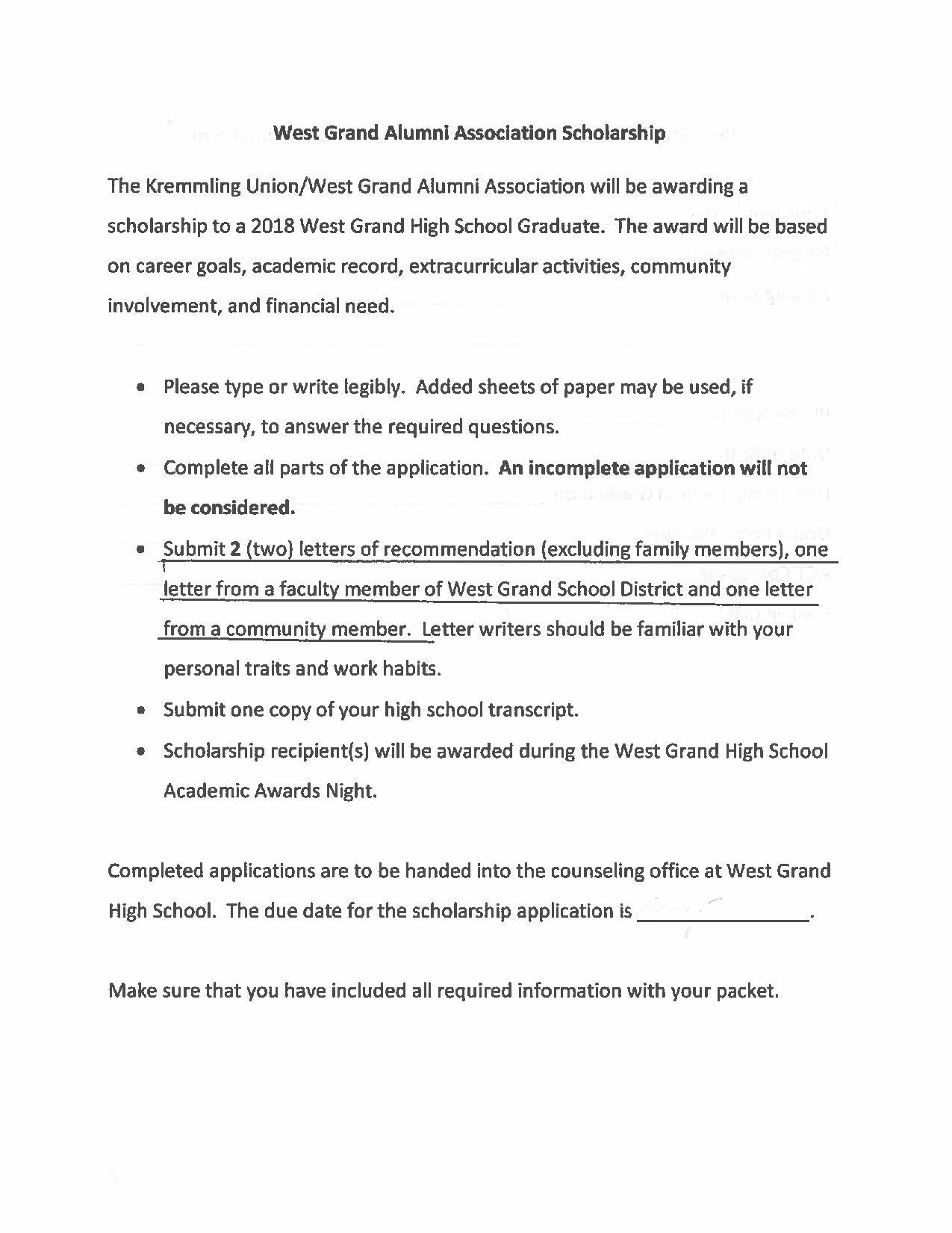 High School - West Grand School District 1-JT
