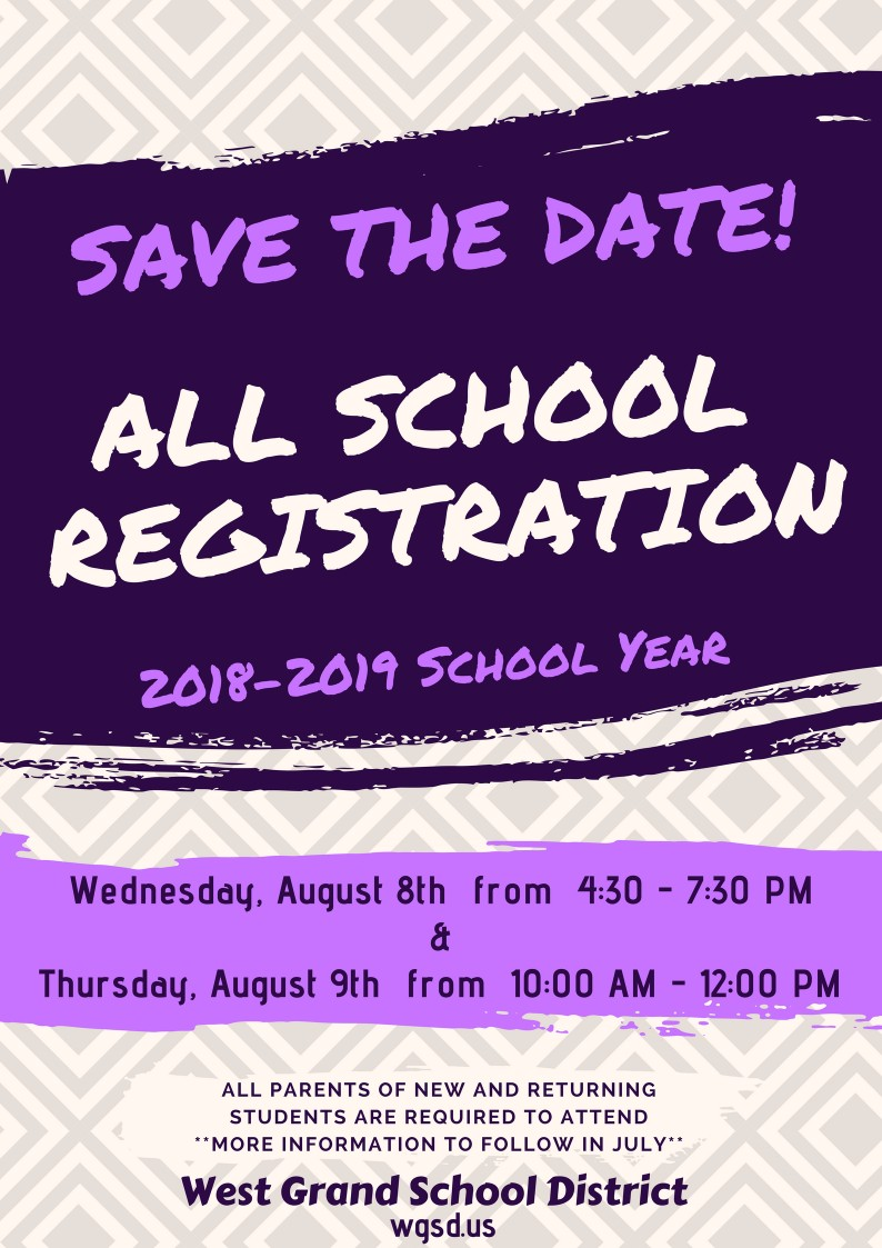 Save The Date - All School Registration
